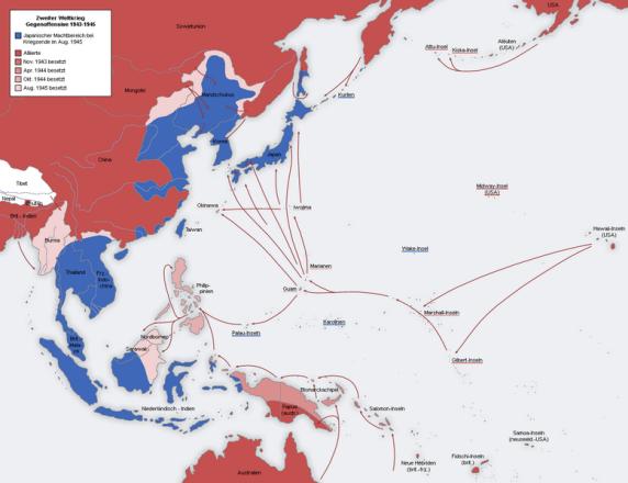 2 Weltkrieg Karte.Der Pazifikkrieg 1937 1945 Als Teil Des Zweiten Weltkriegs